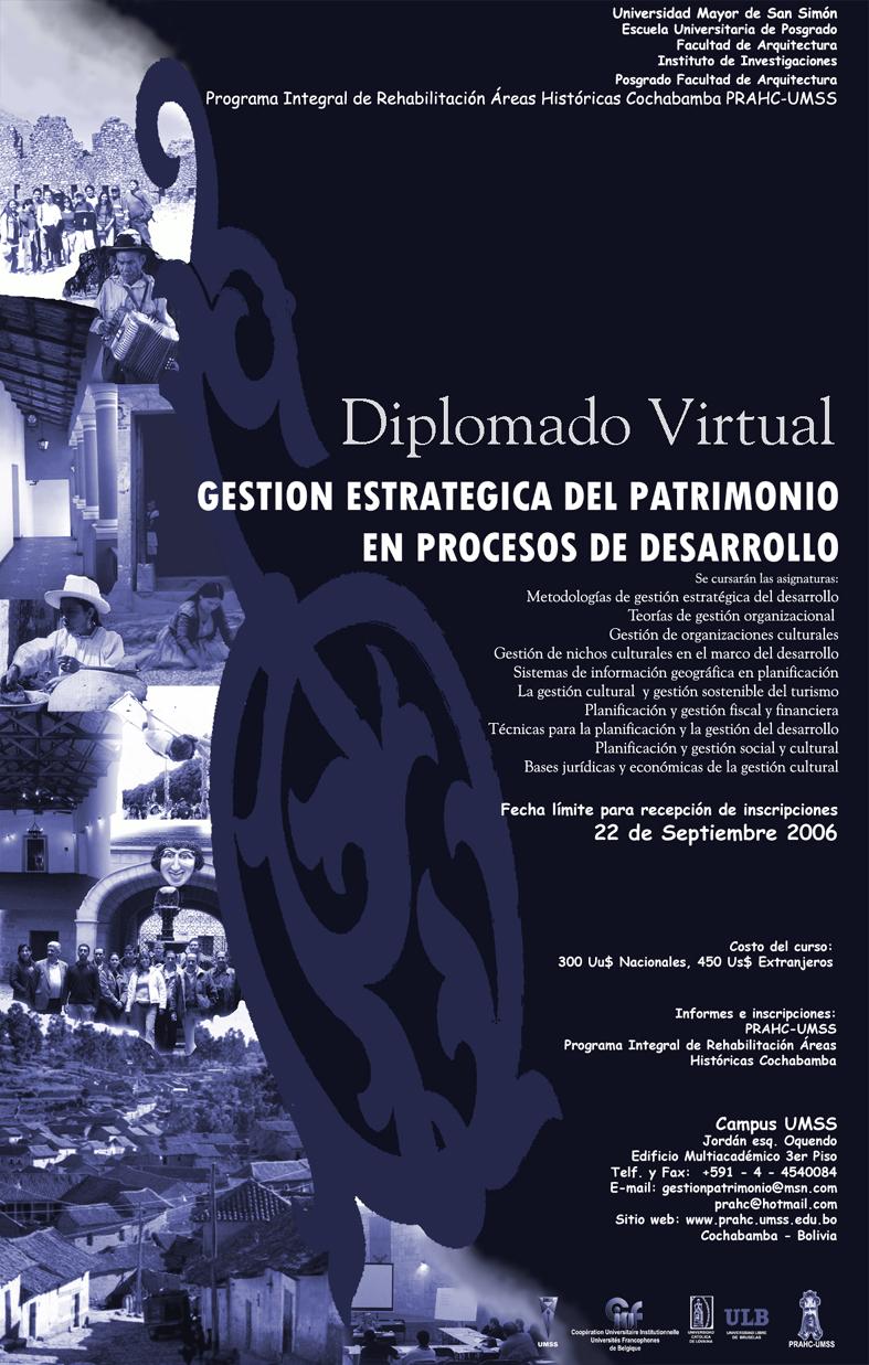 Diplomado Virtual Gestión Estratégica del Patrimonio en Procesos de Desarrollo